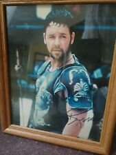 Russell Crowe in Gladiator Autographed 8x10 Photo Coa