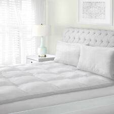 king size mattress topper down alternative baffle box design plush bed cushion