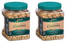 New Two Jars 2 33 oz Planters Fancy Whole Cashews Nuts w/ Sea Salt 4 lbs 2 oz