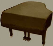 """Grand Piano Cover Brown Vinyl 5'3"""" - 5'6"""" Made in USA"""