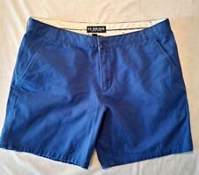 US Polo Assn. Men's Blue Flat Front Casual Walking Hiking Shorts Size 40