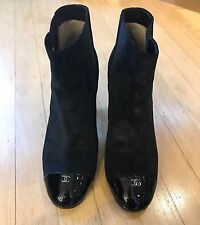 Fabulous Chanel Cap Toe Booties Size 38.5 US 8.5