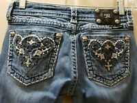 Miss Me Bootcut Denim Jeans. Size 27 Rise 7 Waist 14.5 =29X29