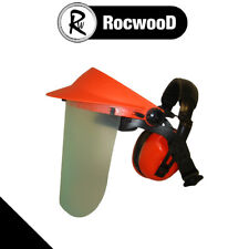 More details for clear face protector c/w ear muffs orange sutibale for strimmer brushcutter