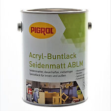 (11,20 €/L) 2,5 L  PIGROL Acryl-Buntlack RAL 7016 Anthrazitgrau - Seidenmatt