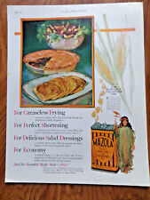 1925 Quaker Puffed Wheat Rice Ad Gay Breakfasts 1925 Mazola Salad Cooking Oil Ad