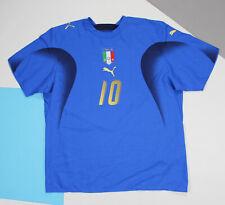 Francesko Totti #10 Italy 2006 - 2007 Home Football Shirt Jersey (size XL)