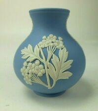 """Vintage Wedgwood Jasperware Bulbous Vase Foliate Motif 4"""""""