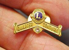 VINTAGE LIONS CLUB QUARTER CENTURY 10K  LAPEL PIN