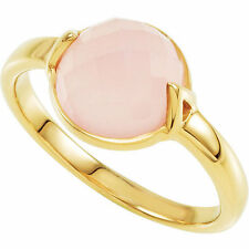 70% OFF RETAIL - MISSOMA 18ct GOLD VERMEIL/ROSE CHALCEDONY RING SIZE 7 & 8