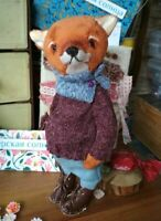 "handmade  OOAK Artist teddy bear fox  8"""