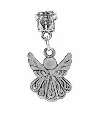 Guardian Angel Holiday Christmas Dangle Charm for Silver European Bead Bracelets