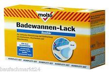 Molto Badewannenlack Set Badewannen Lack Weiß Waschbecken 950 ml + Werkzeug