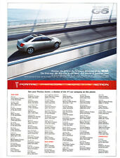 2005 Pontiac G6 NCAA  - Classic Car Advertisement Print Ad J110