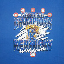 2XL Vintage 1996 Kentucky Wildcats NCAA Basketball National Championship T Shirt