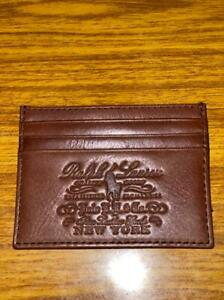 Polo Ralph lauren heritage Full Grain Leather Card case wallet Brown