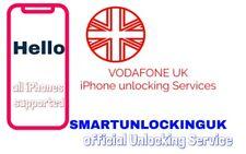 Vodafone UK IPHONE 4 5 5S 5SE 6 6S 6 PLUS  UNLOCKING 30 Days only IMEI