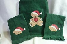 Holiday 3 Piece Towel Set With Bears
