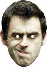 Ronnie O'Sullivan Celebrity Snooker Sports Card Mask. All Our Masks Are Pre-Cut!