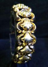 Vintage 1940s 18k Yellow Gold Shell Shape Heavy Bracelet 44.5 Gram Jewelry