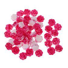 50X RESIN FLOWER CABOCHON Flatback Decoden Embellishment Scrapbook Craft DIY