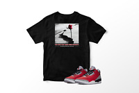 Rose From Concrete T-Shirt to Match Air Jordan 3 Unite Red Cement All Sizes