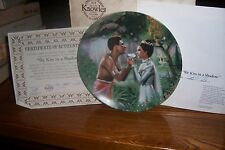 """The King & I Collectors Plate - 1985 - """"We Kiss In A Shadow"""""""