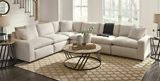 NEW Modular Sectional Living Room Furniture - 6pcs Off White Fabric Sofa Set G33