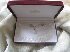 """RODEO JEWELLERS AURORA BOREALIS CRYSTAL NECKLACE 13"""" / 3 """" TRAILING CRYSTALS"""
