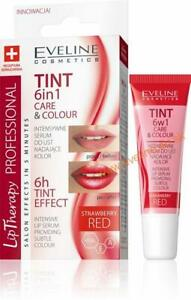 Eveline LIP THERAPY Tint 6in1 Care & Colour Intensive Lip Balm Serum - Red 12ml