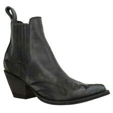 Mexicana Goucho Long Stitch Womens EU 37 UK 4 Black Leather Cowboy Western Boots