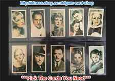 ☆ Godfrey Phillips - Film Stars 1934 (G/F) *Pick The Cards You Need*