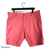 PETER MILLAR Men's Size 38 Lanai Pink Soft Touch Stretch Cotton TWILL Shorts $98