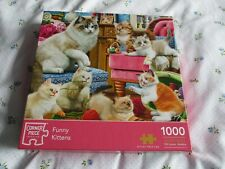 Corner Piece Puzzles 1000 piece Jigsaw Puzzle Funny Kittens