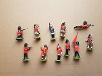 Britains Plastikfiguren Satz - Britische Hofgarde (70 er Jahre -11 Stück)