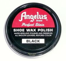 ANGELUS PERFECT STAIR SHOE WAX POLISH Black 3 oz. Water Repellent 14073-6 >NEW<