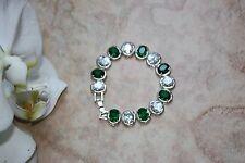AU Stock Elegant 18K Gold Plated Synthetic Zircon Crystal Bracelet - Length 18cm