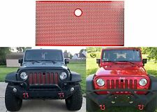 Red Stainless Front Grill 3D Mesh For 2007-2017 Jeep Wrangler JK New Free Ship