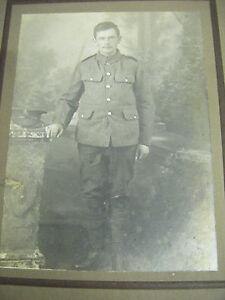 Vintage Original Cabinet Portrait Photograph of a WW1 Soldier - W.White (W'ton)