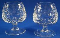 "Rogaska Crystal Gallia Pattern 4 1/4"" Brandy Glasse Set of 2"