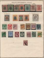 STRAITS SETTLEMENTS/MIDDLE EAST: Ex-Old Time Collection - Album Page (34950)