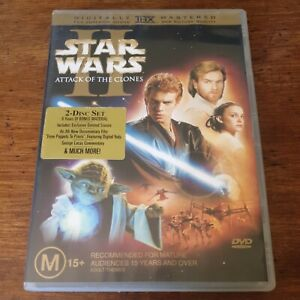 Star Wars Attack of the Clones II DVD R4 Like New! FREE POST