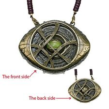 Cosplay Dr Doctor Strange Eye of Agamotto Necklace Pendant Props Gifts Can Glow