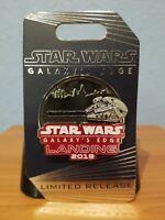 Disney Parks Star Wars Galaxy's Edge Landing 2019 Slider Pin Millenium Falcon LR