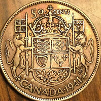 1941 CANADA SILVER 50 CENTS COIN