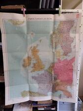 alte Landkarte von 1939 England Frankreich und die See 8