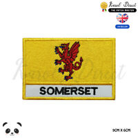 SOMERSET England County Flag With Name Embroidered Iron On Sew On Patch Badge
