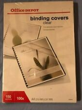 More details for 100 x a4 binding covers clear 150 microns (office depot)