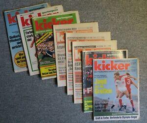 8 kicker Sportmagazin Hefte aus den Jahren 1970 - 1980 (diverse)