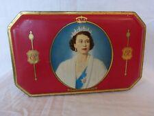 Vintage Majesty Queen Elizabeth Coronation Souvenir 1953 Bensons Toffee Tin Box